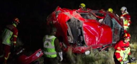 Accidente fatal en Chile: tres miembros de una familia argentina murieron al volcar un auto