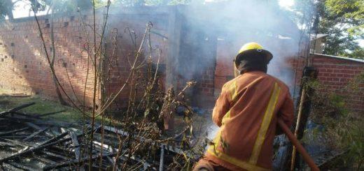 Iguazú: se incendió un depósito en el Barrio Almirante Brown