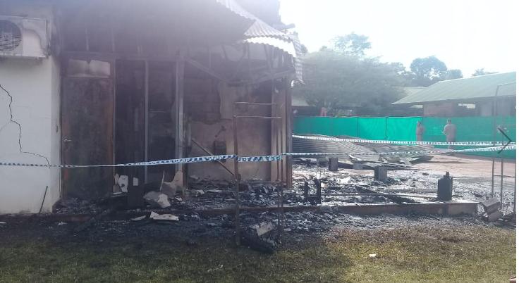 El incendio ocurrido en la empresa Iguazú Argentina fue ocasionado intencionalmente en un cajero automático ubicado al costado