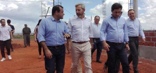 El vicegobernador Oscar Herrera recorrió obras junto al ministro Rogelio Frigerio