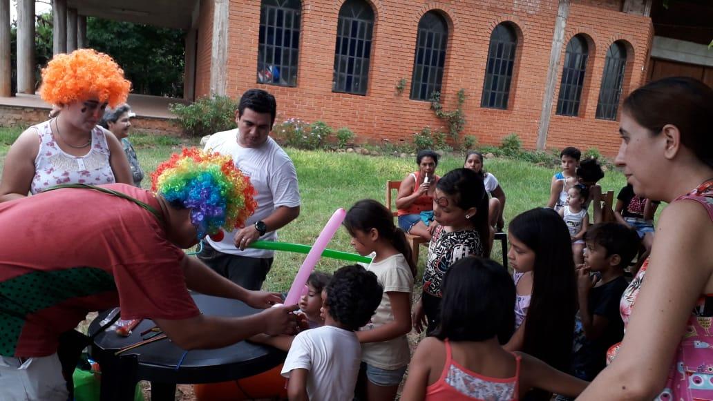 Vicegobernacion realizó una actividad recreativa en la Capilla Nuestra Señora de Guadalupe en Posadas