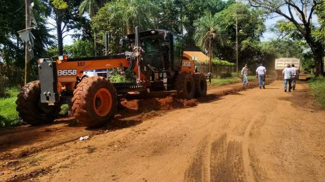 El municipio arregló calles terradas en Los Paraísos