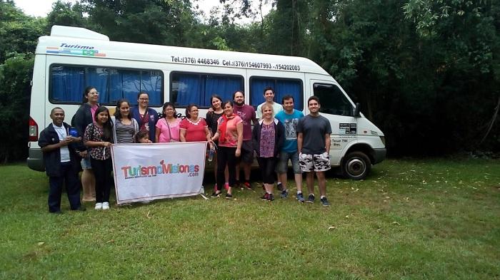 Turismo Misiones concretó con éxito la salida grupal a Salto Encantado