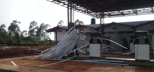 El Soberbio registró voladuras de techo y daños materiales tras el temporal