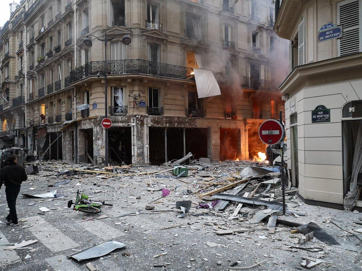 Francia: tres muertos por una fuerte explosión en una panadería en el centro de París