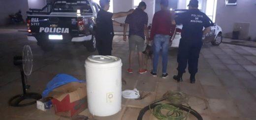 La Policía recuperó varios elementos robados de una vivienda y detuvo a dos jóvenes en Posadas