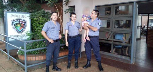 Posadas: nena de 3 años visitó en la comisaría Octava a los policías que le salvaron la vida