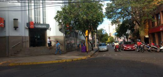 Poco movimiento en la capital misionera el primer día hábil del 2019, los bancos funcionan todos con normalidad