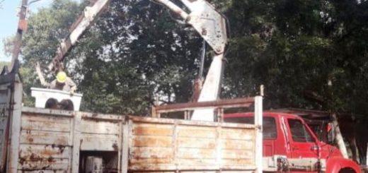 Energía de Misiones realizó diversos trabajos en Itacaruaré