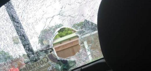 Procedimiento policial por disturbios terminó con un patrullero dañado, un efectivo herido y un detenido en Posadas