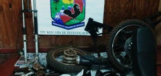 Eldorado: policías recuperaron una motocicleta desarmada que fue robada en Puerto Piray
