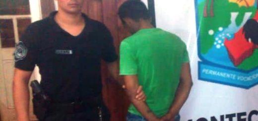 Policías detuvieron a dos arrebatadores y recuperaron objetos robados en Montecarlo