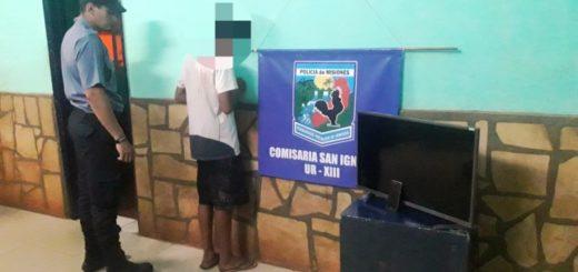 Recuperaron elementos robados a una abuela y hay un jovencito involucrado en el hecho en San Ignacio