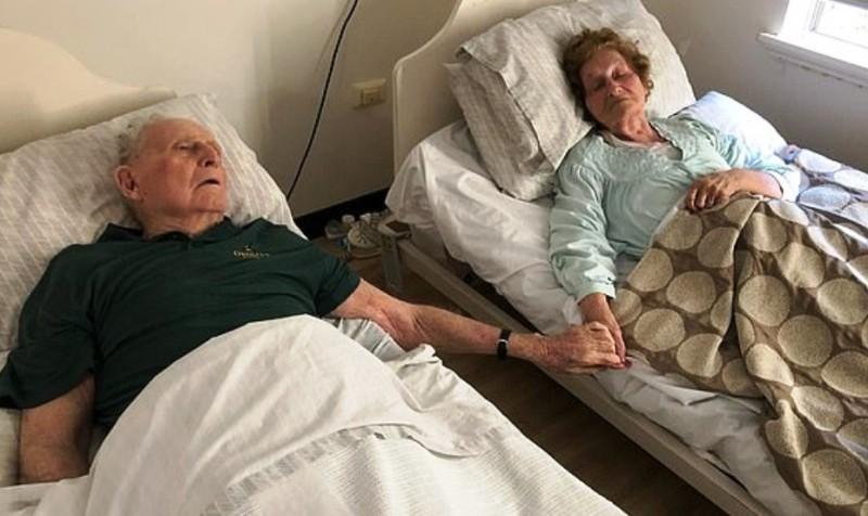 Murieron agarrados de la mano tras 70 años de casados