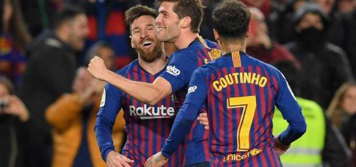 Con un golazo de Messi, Barcelona venció al Sevilla y avanzó a semifinales de la Copa del Rey