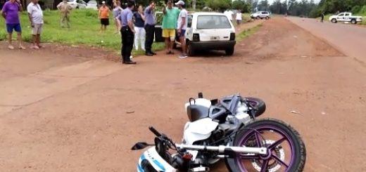 Motociclista falleció camino al hospital tras chocar con un auto en Posadas