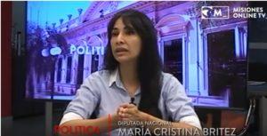 """Cristina Britez: """"La oposición que no habla de unidad y pone límites, está siendo funcional a Macri"""""""