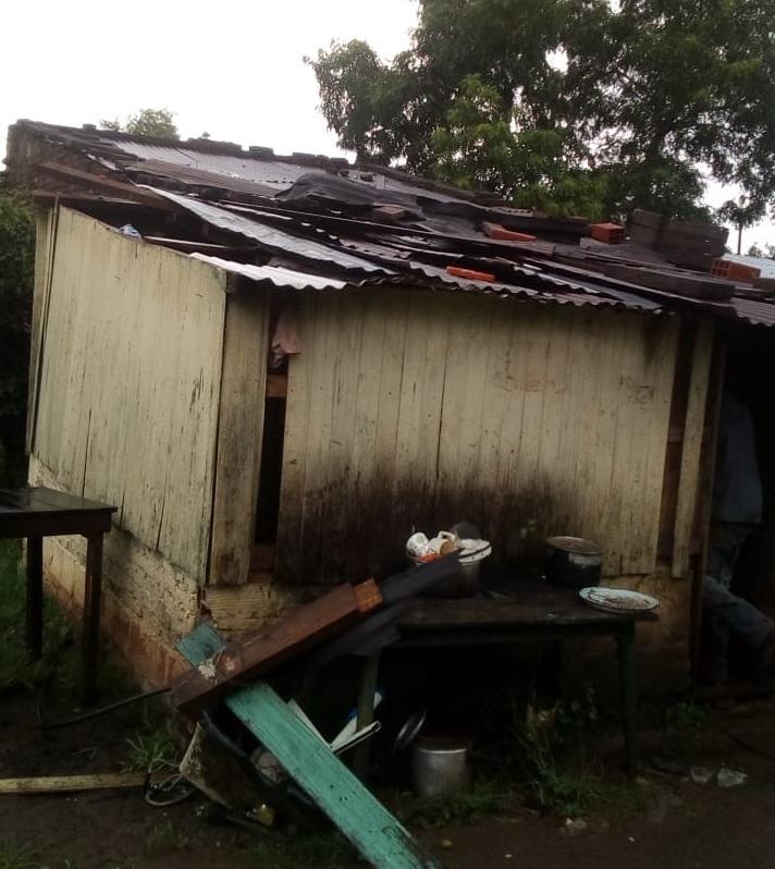 Tras el temporal se registraron voladuras de techos parciales y totales en Candelaria