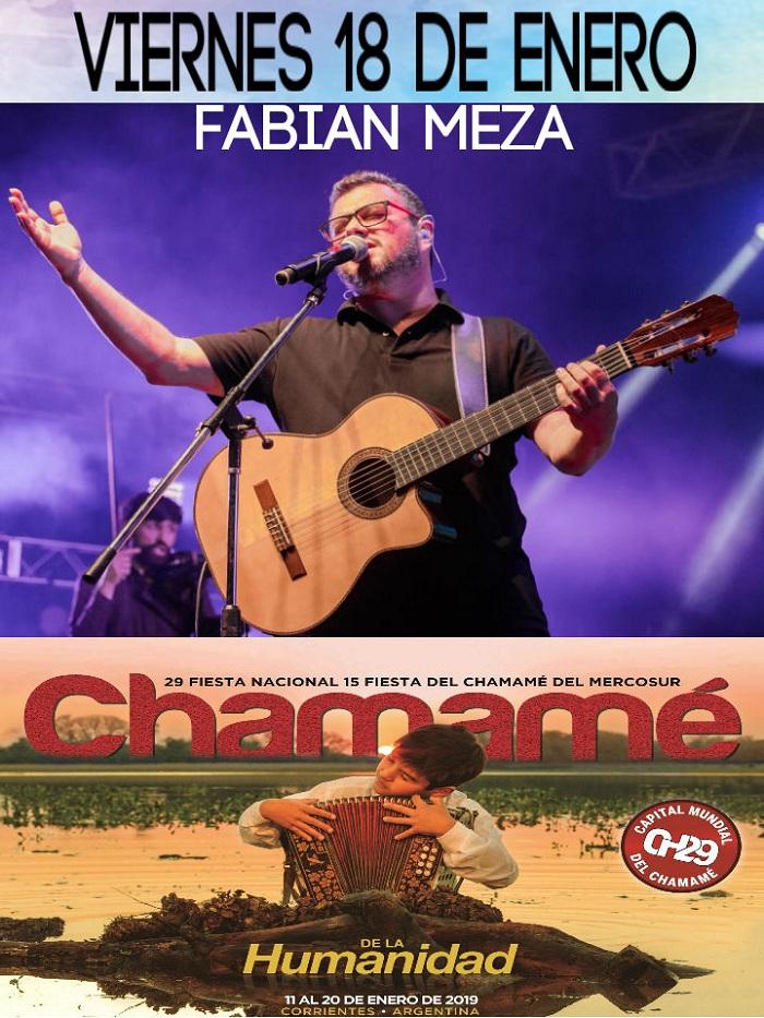 Fabián Meza se presentará esta noche en la Fiesta Nacional del Chamamé