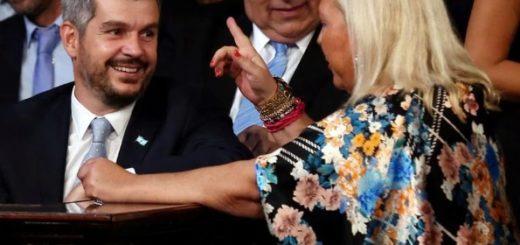 Elisa Carrió tuvo una larga reunión con Marcos Peña y se comprometió a fortalecer a Cambiemos