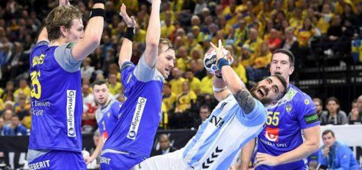 Argentina perdió ante Suecia, en la segunda jornada del Mundial de Handball 2019