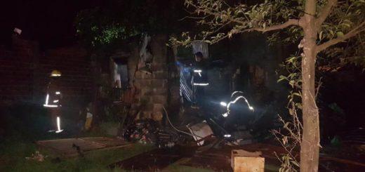 Se incendió una vivienda en Posadas, no hubo heridos pero sí daños materiales
