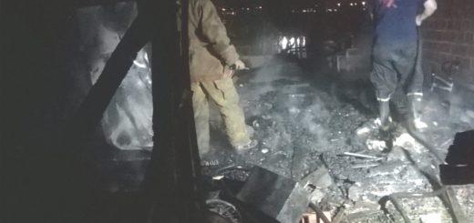 Se incendió una casa del barrio Unidos de Posadas
