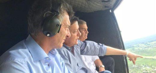 Luego de reunirse con Bolsonaro, Macri estuvo en Chaco para visitar las zonas inundadas