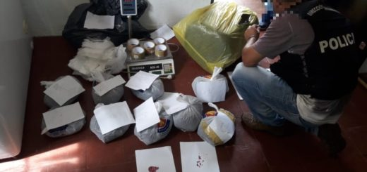 Investigaban un robo y encontraron casi 20 kilos de marihuana escondidos en un freezer: tres detenidos