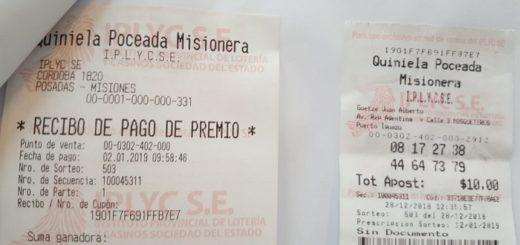 Un apostador de Puerto Iguazú se llevó más de 4 millones de pesos con la Poceada Misionera
