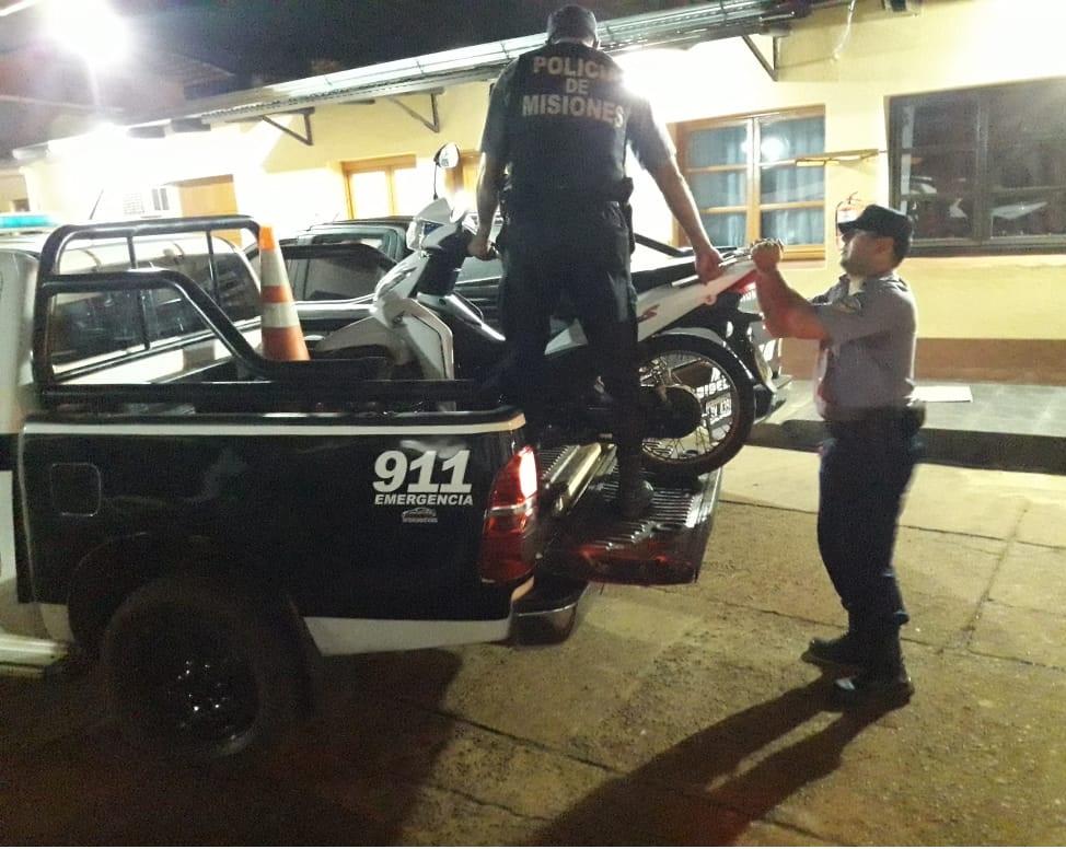 Oberá: la policía recuperó una moto robada de una vivienda