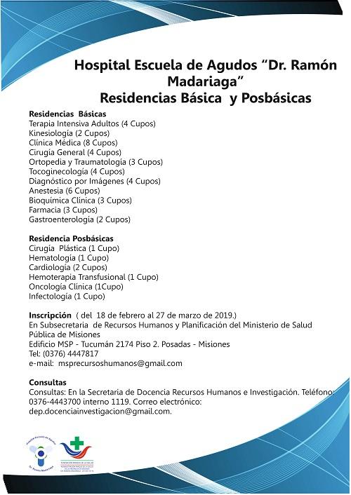 Abren inscripción para Residencia Médica en Hospital de Misiones: vea la lista de especialidades