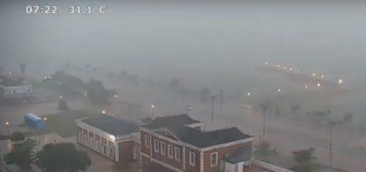 Video: cómo se fue formando la tormenta de esta mañana en Posadas, sigue la alerta en Misiones