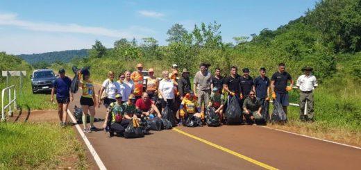 Se realizó el Plogging en la primera Fiesta de la Biodiversidad y el Ecoturismo: recolectaron más de 10 bolsas de residuos