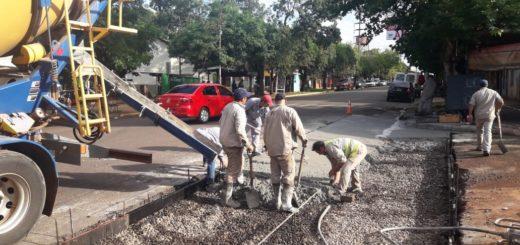Vialidad Provincial realiza obras sobre la avenida López Torres de Posadas