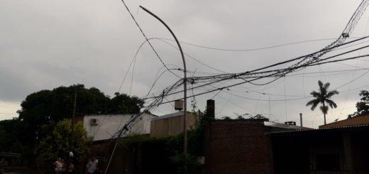 A raíz de la tormenta, sigue afectado el servicio de energía en algunas localidades de la zona sur de Misiones