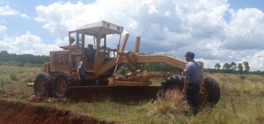 Candelaria: la Policía recuperó costosa maquinaria robada y abandonada en un baldío