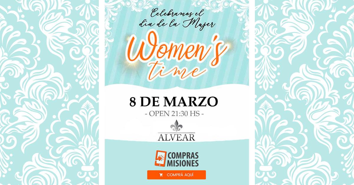 Día de la Mujer: la fiesta más glamorosa de la región te espera en Alvear Salones…Adquirí las entradas por Internet en Compras Misiones