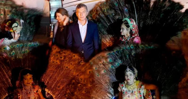 Antes de comenzar con su agenda asiática, Mauricio Macri llegó a la India