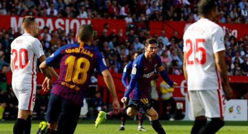 Con tres goles de Lionel Messi, el Barcelona le ganó de visitante al Sevilla