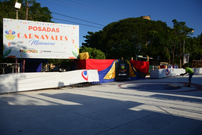 Ya está todo listo para la segunda noche de los Carnavales Posadeños que tras 20 años se vuelven a realizar en Villa Cabello