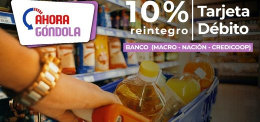 Hoy y mañana rige el programa #AhoraGóndola en supermercados y almacenes