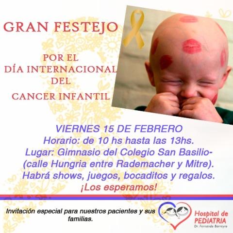 Realizarán actividadespor el Día Mundial del Cáncer Infantil que se recuerda el 15 de febrero