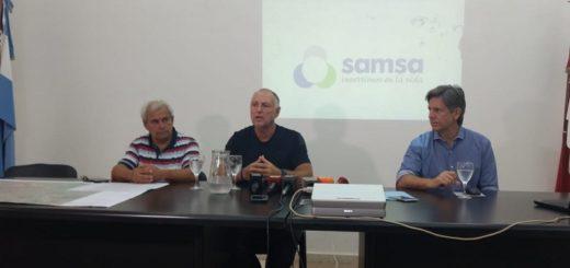 Samsa expuso las obras que está realizando para solucionar la falta de agua en algunos barrios de Posadas y Garupá