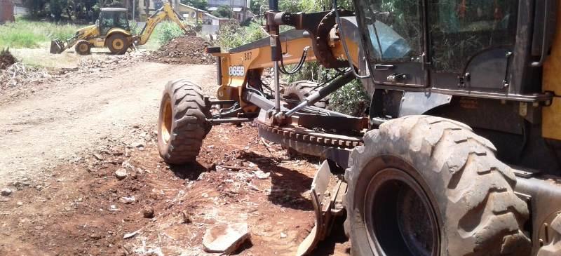 El municipio posadeño arregló calles en San Marcos y Los Lapachos