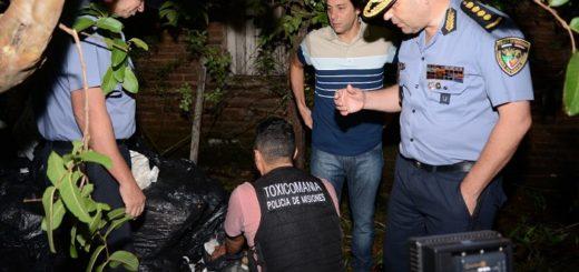 En menos de 9 horas la Policía secuestró cerca de 1200 kilos de marihuana en Posadas