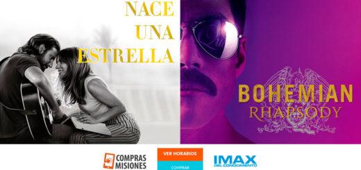 Rapsodia Bohemia y Nace una Estrella: dos protagonistas de los premios Oscar en el IMAX…Adquirí aquí las entradas por Internet en Compras Misiones