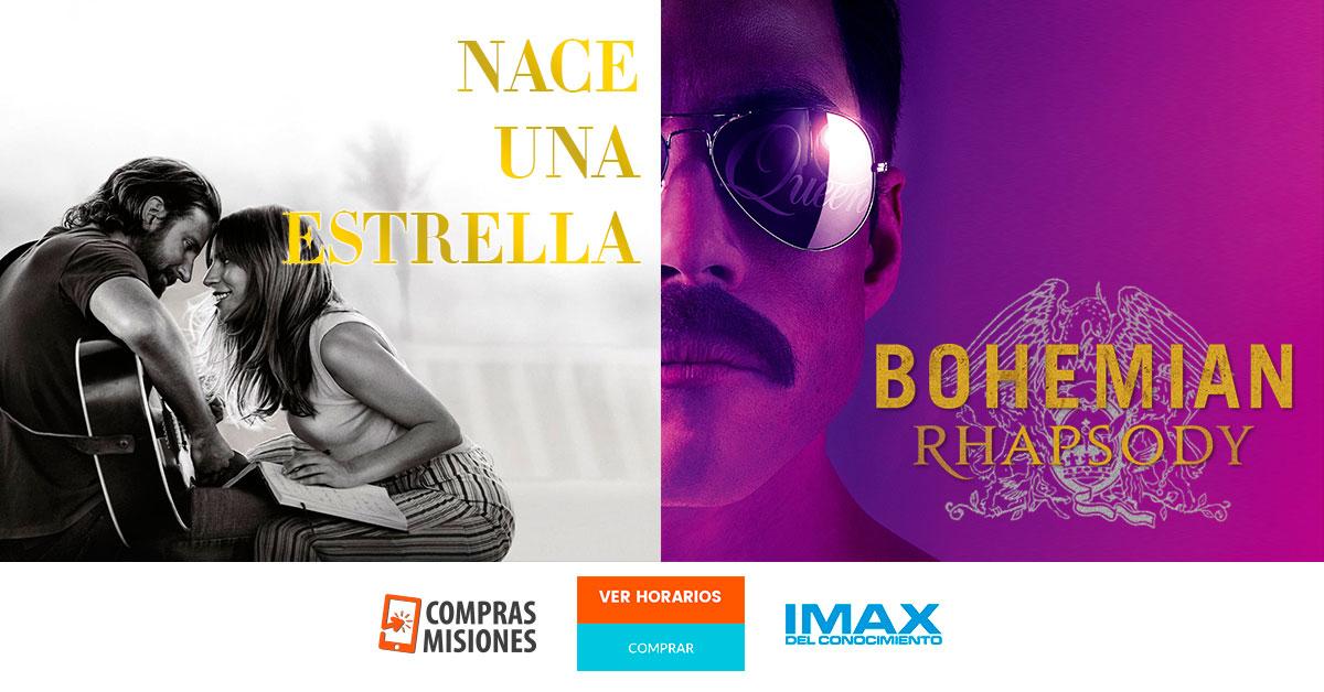 Las películas de Lady Gaga y de Freddie Mercury desde hoy en el IMAX…Apurate y adquirí aquí las entradas por Internet