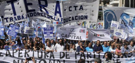Paritaria docente: la CTERA convocó a un paro nacional para el 6,7 y 8 de marzo