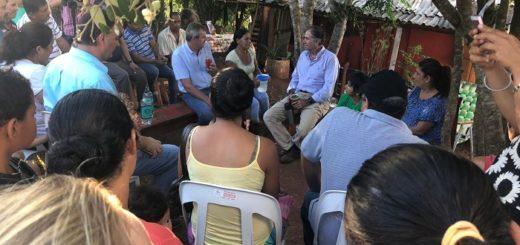 El senador nacional Humberto Schiavoni mantuvo reuniones con vecinos de Oberá y Apóstoles